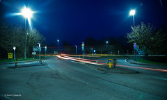 Traffic (norm.edwards) Tags: oundle slow shutter slowshutter timelapse lighttrails light trails town traffic cars lorry lorries red orange blue