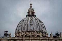 Kuppel des Petersdoms (Markus Wollny) Tags: city vatikan rom roma lazio italien it