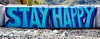 Stay Happy (maytag97) Tags: maytag97 nikon d750 barrier baricade paint painted outdoor safe safety blue concrete cement