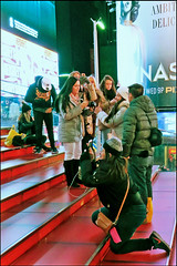 Life, Organized around Photos - Times Square, NYC (TravelsWithDan) Tags: photographers cameraphones candid redsteps streetphotography timessquare urban city night outdoors citylife tourists nyc newyork canong3x