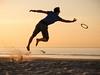 Joris & co - A (Drummerdelight) Tags: shillouette beach action frisbee jump intothesun sunsetting