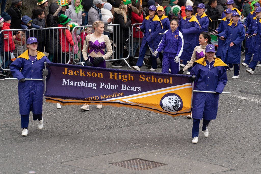 Jackson High School - Purple Army Marching Band [Dublin Patricks Day Parade 2018]-137623