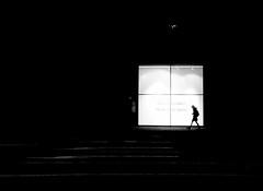Walkthrough (A. Yousuf Kurniawan) Tags: walk walkway walking monochrome blackandwhite silhoutte people shadow light box minimalism minimalist decisivemoment cameraphone cameraphonestreet phonestreet composition