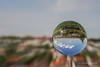 Denkendorf in a Crystal Ball (gporada) Tags: kristallkugel sonya7ii crystalball canonfd2824mm
