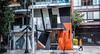 2018 - Mexico City - Condesa - Calle Alfonso Reyes (Ted's photos - For Me & You) Tags: 2018 cdmx cityofmexico cropped mexico mexicocity nikon nikond750 nikonfx tedmcgrath tedsphotos tedsphotosmexico vignetting street male man people peopleandpaths building buildings streetlamp deck railing balcony garage garagegate denim denimjeans shadow shadows doors windows walker