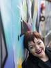 Faryda, Amsterdam 2018: Graffiti smile (mdiepraam) Tags: faryda amsterdam 2018 ndsm portrait pretty attractive beautiful elegant classy gorgeous dutch brunette girl woman lady naturalglamour graffiti