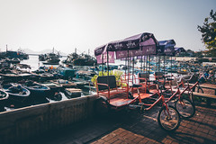 Shall we? (]vincent[) Tags: hk hong kong cheung chau vincent portrait people girl ginger emma sony rx 100 mk iv beautiful beer boat bicycle fish shrimp dryed food asia china