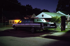 (patrickjoust) Tags: fujica gw690 kodak portra 160 6x9 medium format 120 rangefinder c41 color negative film cable release tripod long exposure night after dark manual focus analog mechanical patrick joust patrickjoust baltimore metro area maryland md usa us united states north america estados unidos car auto automobile vehicle parked suburb suburban house home limo limousine