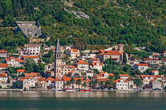 Perast Waterfront (fotofrysk) Tags: perastwaterfront churches tower houses homes buildings architecture mountainside istriamontenegroroadtrip montenegro bayofkotor adriaticcoast dalmatiancoast afsnikkor703004556g nikond7100 201710099323