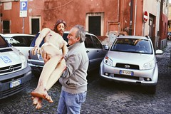 Handle with care (Alessio Vincenzo Liquori) Tags: pentaxk1 pentax pentaxfa31mmf18limited frascati italy italia pasqua easter holyfriday venerdìsanto streetphotography streetphoto street people jesus christ