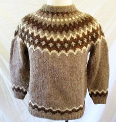 Icelandic Lopi wool sweater (Mytwist) Tags: hand made icelandic nordic tan brown fair isle chunky knit sweater ullar ullarpeysa craft lopapeysa lopi iceland icelandicsweater classic viking design vouge bulky style jumper timeless traditional laine heritage original handknitted knitting love passion gift