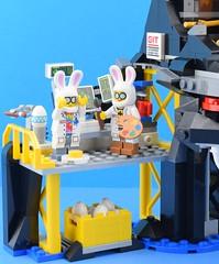 Painting Easter Eggs in Garmadon's lair🐰 (Alex THELEGOFAN) Tags: lego legography minifigure minifigures minifig minifigurine minifigs minifigurines fun ninjago geek git lair volcano egg easter eggs base hq bunny steve employees water ocean paint