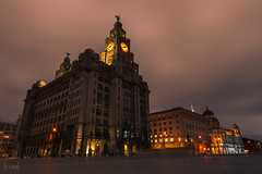 Royal Liver Building, Liverpool, UK (KSAG Photography) Tags: history heritage unesco liverpool merseyside building architecture city urban skyline landscape hdr wideangle nikon night nightphotography longexposure clock tower unitedkingdom uk england europe britain march 2018