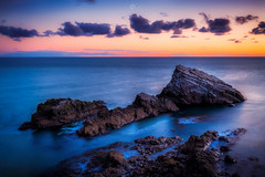 Isle of Birds (Augmented Reality Images (Getty Contributor)) Tags: portknockie longexposure coastline sunrise water scotland landscape nisifilters waves clouds morayfirth canon shittencraig seascape rocks unitedkingdom gb