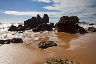Jagged Rocks and Golden Sands