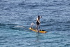 Bird and paddle man (ZUHMHA) Tags: marseille france water sea people gens human humain paddle oiseau mouette bird