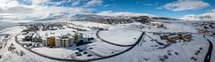 Town of Sauðárkrókur (Arnar Bergur) Tags: bluesky iceland blárhiminn norðurlandvestra landscape winter vetur snow snjór mountains norðurland outdoor sauðárkrókur clouds town ísland