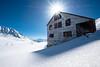 Sunstar at Independence Mine (BradTombers) Tags: mine abandoned alaska cold winter sunshine blue sky architechture historical history tourism sunstar