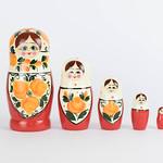 Matryoshka set in a row thumbnail