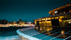 enterprise! (m_laRs_k) Tags: scheveningen pier pallace hotel bluehour holland cityscape europe spacy orangeteal omd olympus night beach leasure reflection promenade denhaag thehaag iwhishiwasthere favouriteplacebeyondfewothers hopeyoulikeit 169 landscape 7dwf