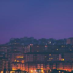 Luces de ciudad (Mimadeo) Tags: cityscape night town city urban sky architecture skyline blue view downtown building beautiful scene landscape light dark evening scenic dusk background illuminated twilight village copyspace portugalete