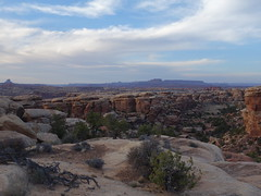 sunset above camp (John E. Morrow) Tags: canyonlandsnationalpark needlesdistrict thegrabens cheslercanyon cheslerpark canyonlands canyonlandsneedles