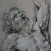 RENI Guido,1620-21 - Hercule sur le Bûcher, Etude (drawing, dessin, disegno-Louvre INV8917) - Detail 6