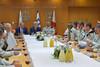 """רה""""מ נתניהו עם שר הבטחון ליברמן והרמטכ""""ל איזנקוט בהרמת כוסית ליום העצמאות (Prime Minister of Israel) Tags: jerusalem israel isr"""