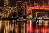 Moored for the night (darletts56) Tags: night silhouette shimmering lights bc place vancouver canada british columbia boats mooring reflection