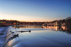 Blue Hour - Boathouse Row - Philadelphia (Brentg33) Tags: ifttt 500px phila philadelphia philly boathouse row long exposure sony alpha shooter blue hour landscape landscapes lights city cityscape waterfall visit pa a7rii outdoor outdoors rowing nature photograph natural light water urban exploration
