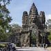 Puerta de entrada a la ciudad real de Angkor Thom, Camboya