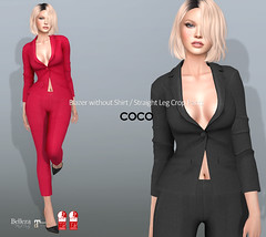 COCO New Release @Uber March 25th (cocoro Lemon) Tags: coco newrelease uber blazer pants secondlife fashion mesh maitreya slink belleza