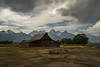 _8106461 (captured by bond) Tags: tetons mormonrow mormonbarn barn patina mountains clouds drama