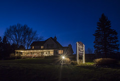 The House on the Hill (T P Mann Photography) Tags: breezeway michigan ellsworth lights trees silhouette bedandbreakfast house bluehour longexposure night