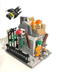 MOC: Arkham Breakout (Spideymoth224) Tags: colby custom bricks
