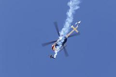 Red Bull (Trent Bell) Tags: lancaster foxairfield airport losangelescounty airshow 2018 california aircraft n154eh b0105cbs4 mbbb0105cbs4 redbull demo aaronfitzgerald skydiver
