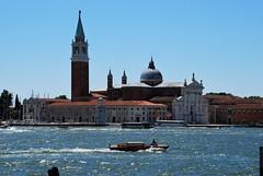 Basílica de San Giorgio Maggiore (Venecia, Italia, 17-6-2017) (Juanje Orío) Tags: 2017 venecia venezia italy italia patrimoniodelahumanidad worldheritage canal basílica iglesia church torre tower barco boat agua water
