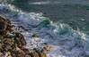 Jamais la même... (Never the same...) (Larch) Tags: water stone rock rocher mer sea ligurie italie italia italy écume foam vert white blanc côte coast vague wave méditerranée green bonassola levanto diagonale diagonal