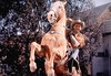 """A salute from Roy Rogers and Trigger in """"Sunset in the West"""" (1950) (lhboudreau) Tags: movie film motionpicture western wildwest cowboy cowboys cowboyhero westernhero cowboyfilm classicwestern cowboymovie royrogers republicpicture republicpictures republic 1950 sunsetinthewest color americanwest williamwitney jackamarta hat horse trigger palomino cowboystar moviestar harness people screenshot animal outdoor outdoors featurefilm salute rearing tree saddle adios"""