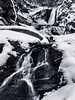 Black and White Winter Water Fall Landscape of Sanderson Brook Falls (Southern New England Photography) Tags: blackandwhite rock waterfalls cold landscape winter northamerica cliffs water mountains beautiful massachusetts bright longexposure flowing snow tree newengland creek chester rapids cascade river forest hiking waterfalllandscape sandersonbrookfalls winterwaterfalls unitedstates brook gorge ice stream