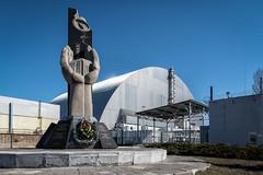 Number 4 Reactor Sarcophagus, Chernobyl, Ukraine (KSAG Photography) Tags: radiation disaster chernobyl ukraine powerstation engineering monument europe history architecture nikon wideangle hdr april 2018 spring