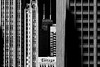 Chicago (B&W) (Andy Marfia) Tags: chicago loop tribunebuilding johnhancockcenter chicagotribune sign lettering buildings architecture shapes layers abstract blackwhite bw d7100 1685mm 1400sec f8 iso100