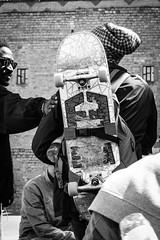 Skaters. Macba (queco07) Tags: barcelona macba raval people skaters blackwhite blackandwhite bw street