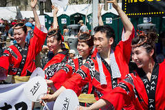 Japanese Dancers (yurivestil) Tags: japan japanese festival washingtondc colorful red dancers asians group dynamic energetic pose male female