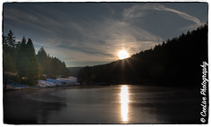 Taunus sunset (cee live) Tags: germany taunus forest frozen lakes nature snow sunset water winter canon flickr clouds dusk