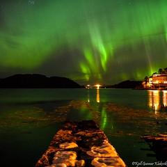 The northern lights. (Kjell Gunnar Klaksvik) Tags: aurekommune photography sigma20art nikon longexposure nightphotography night view nordlys aurora auroraborealis northernlights