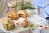 Panini con provolone, olive e pistacchi 2 (Giovanna-la cuoca eclettica) Tags: panini panefarcito formaggi food cibo stilllife wood vintage lievitati