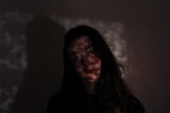 Translucent Ctiy (leahgarrad) Tags: ohp projection selfportrait portrait portraiture light canon canoneos canon1300d london urban architecture canarywharf greenwich city