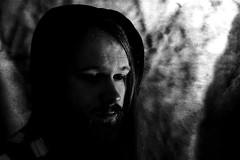 Low Key Self Portraits (Jaggystang94) Tags: self portrait flash gel blue moody nikon d3100 long hair beard man