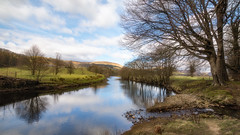 Reflecting... (Lee~Harris) Tags: landscape river reflections trees outdoors nikon sky clouds contrast d7200 water beauty forestofbowland england uk countryside